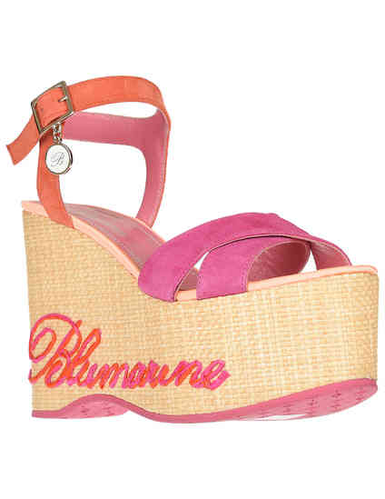 женские розовые Босоножки Blumarine 4330-З-fuxia-orange_pink - фото-2