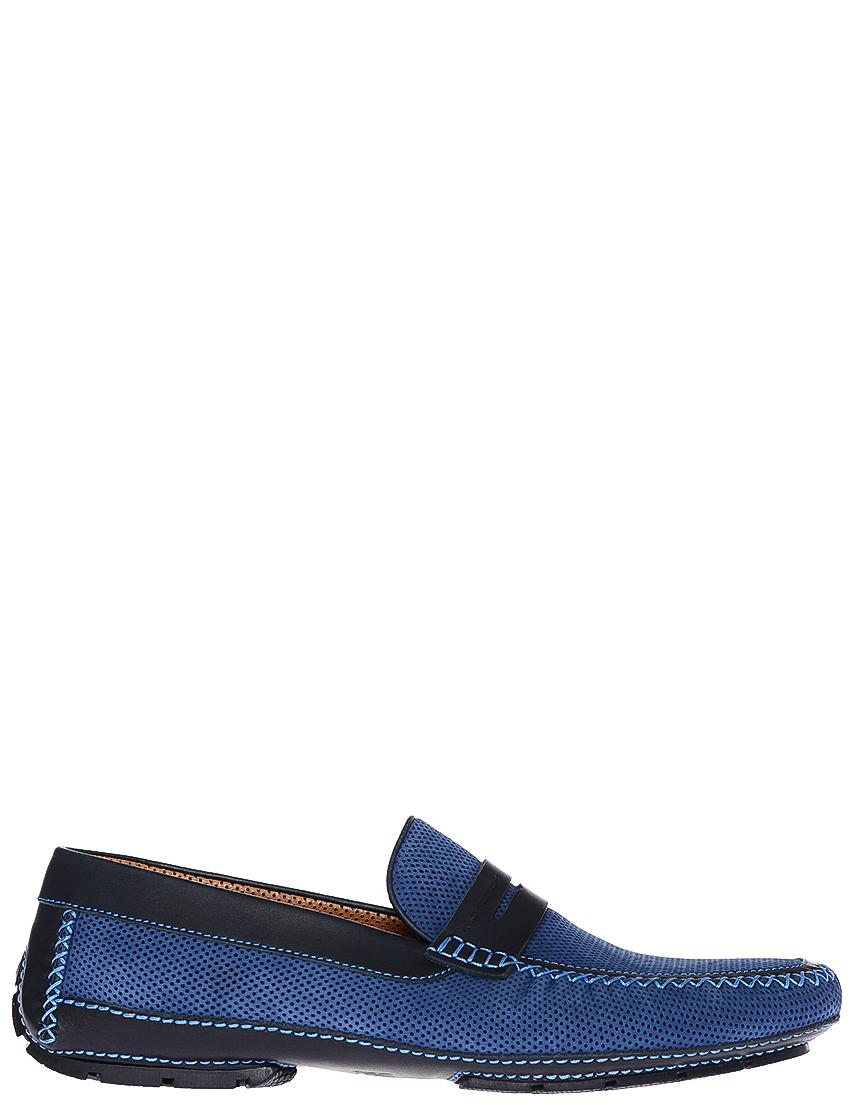 Фото - мужские мокасины  синего цвета