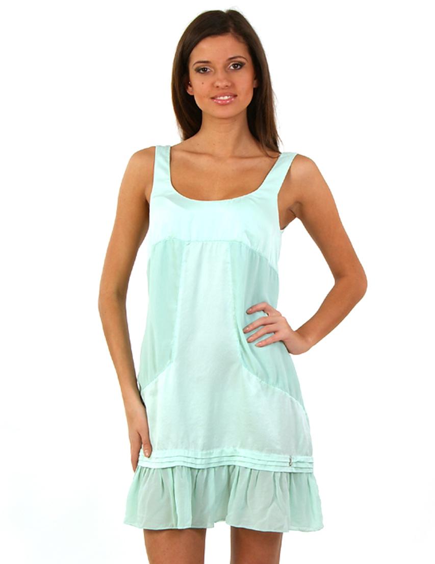 Купить Платье, PATRIZIA PEPE, Зеленый, 100%Шелк, Весна-Лето