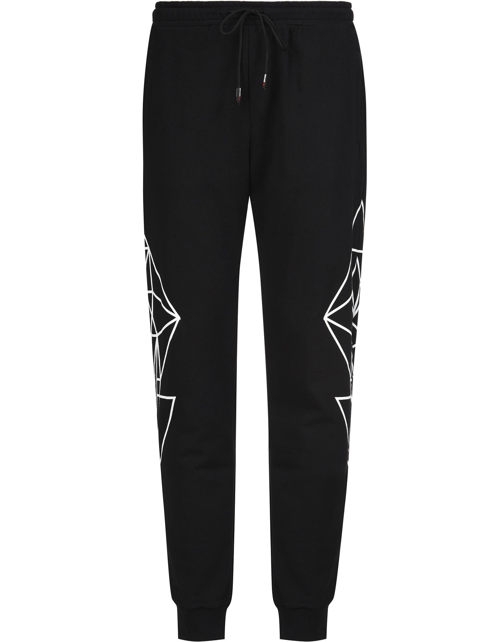 Купить Спортивные брюки, ROBERTO CAVALLI, Черный, 100%Хлопок, Весна-Лето