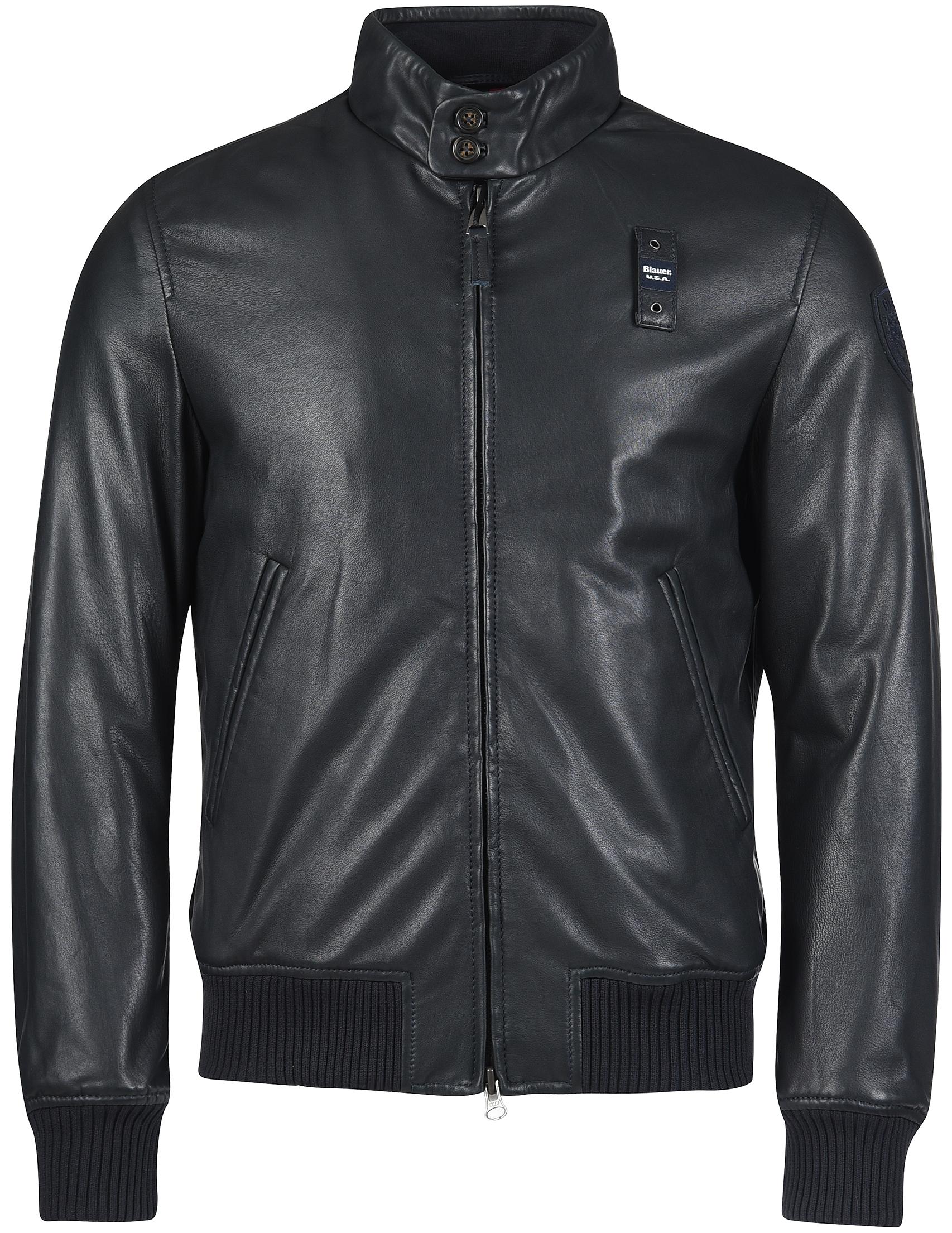 Купить Куртки, Куртка, BLAUER, Черный, 100%Кожа;100%Полиамид;100%Полиэстер, Осень-Зима