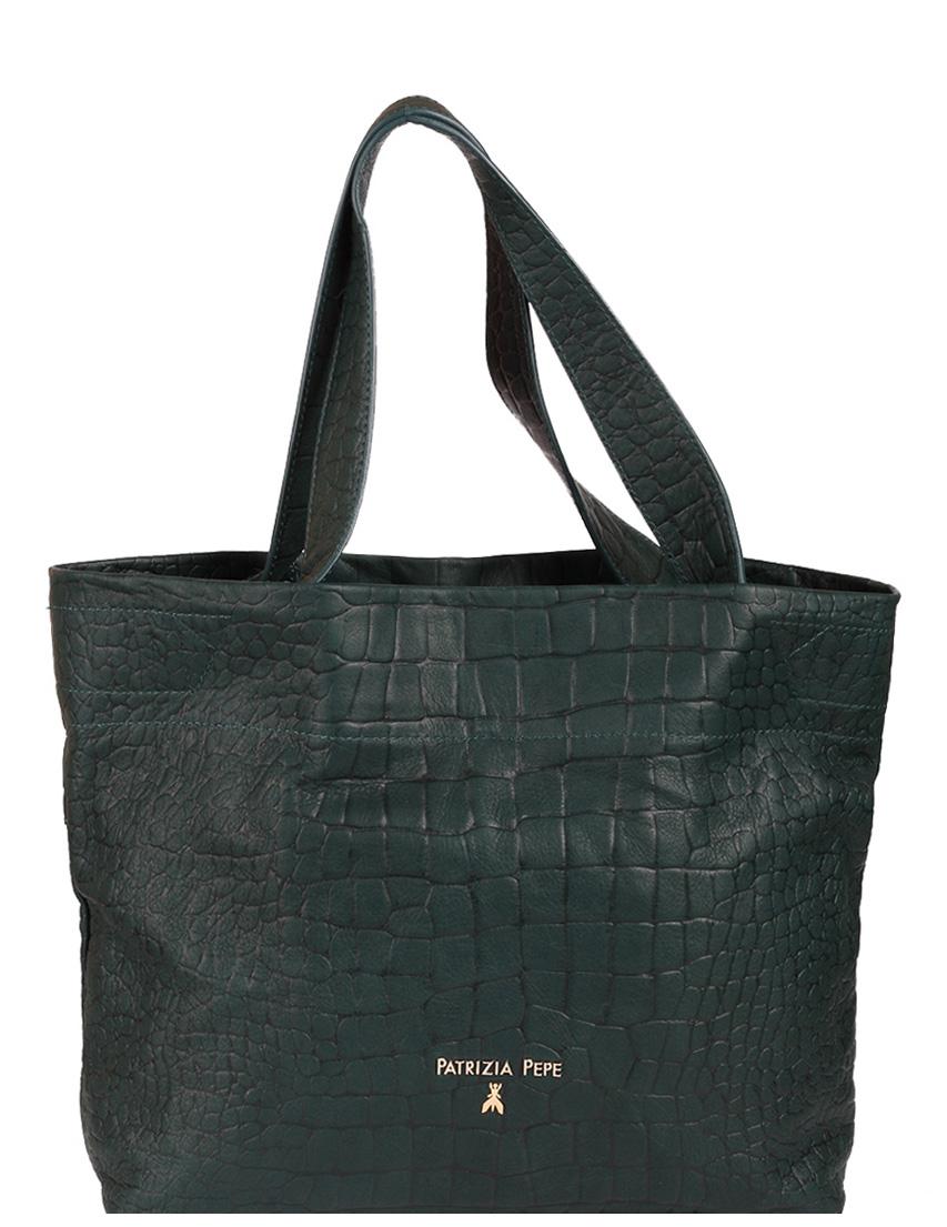 Купить Женские сумки, Сумка, PATRIZIA PEPE, Зеленый, Осень-Зима