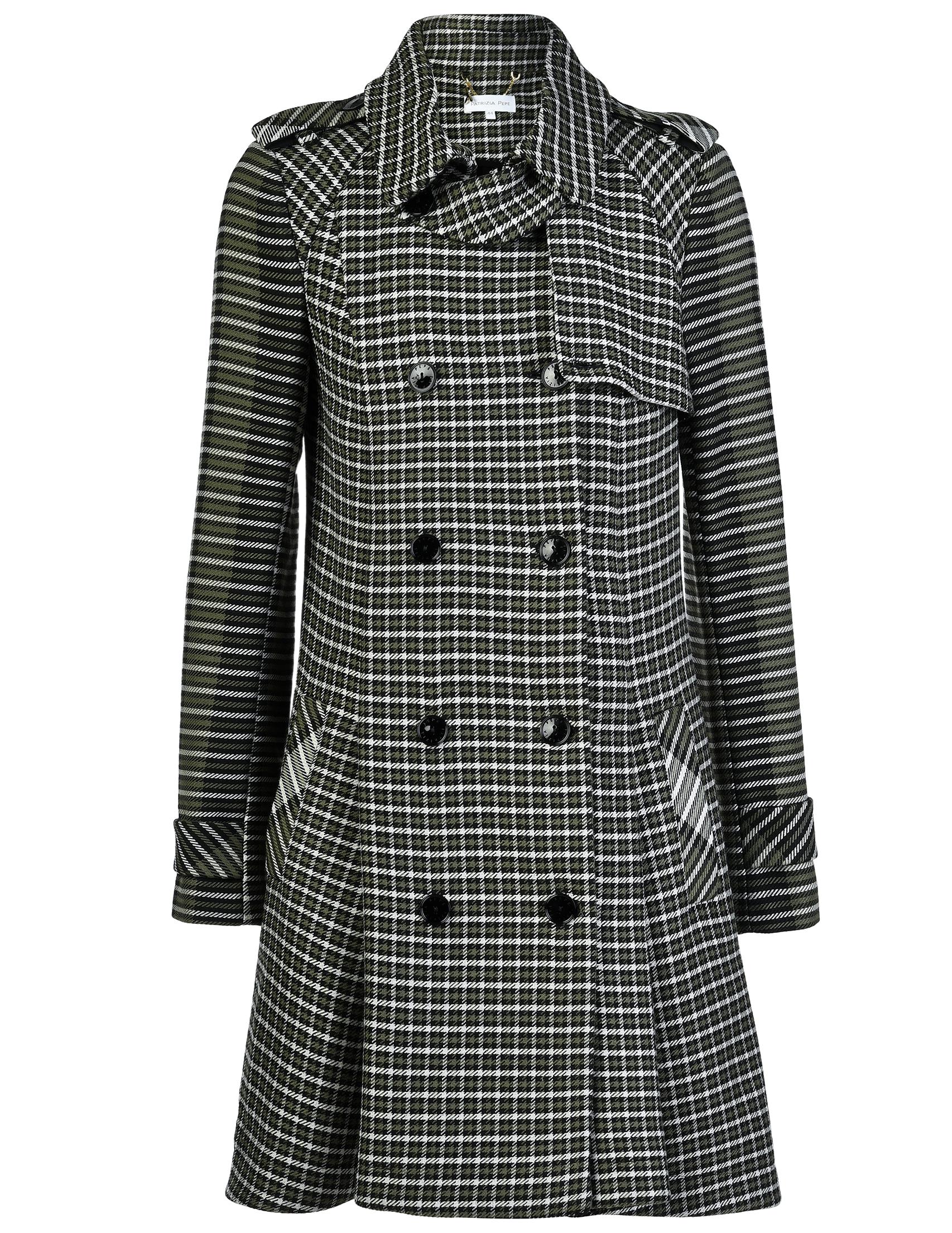 Купить Пальто, PATRIZIA PEPE, Зеленый, 9%Акрил 57%Вискоза 21%Шерсть 3%Полиамид 10%Полиэстер, Осень-Зима
