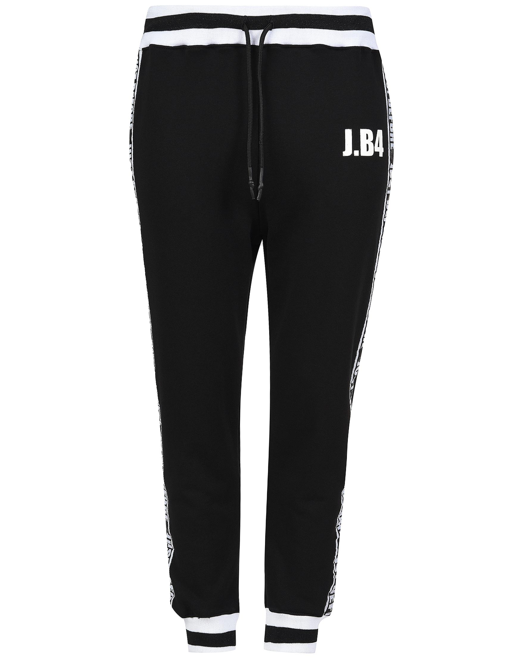 Спортивные брюки, J.B4 JUST BEFORE, Черный, 100%Хлопок, Весна-Лето  - купить со скидкой