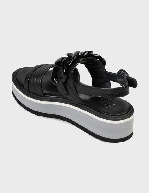 женские черные Босоножки Pertini 201W16870D1 - фото-2
