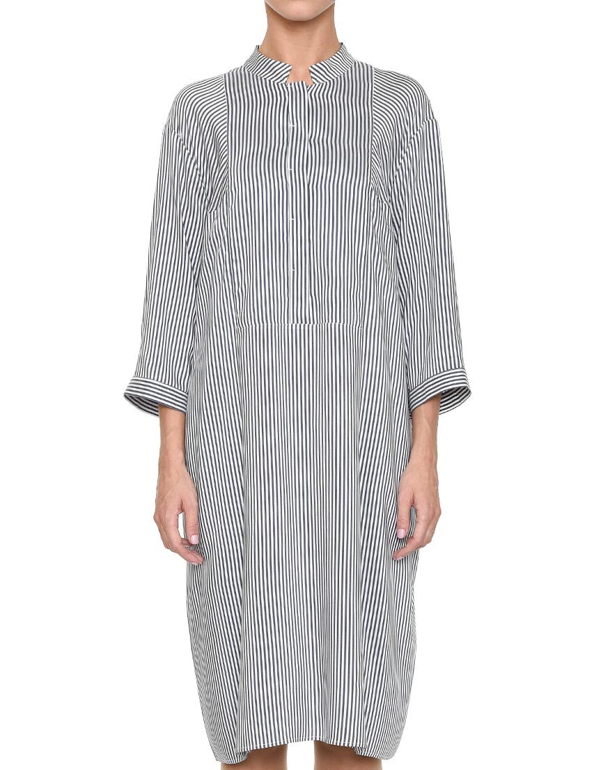 Купить Платье, PESERICO, Белый, 84%Вискоза 16%Шелк, Весна-Лето