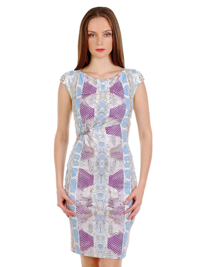 Купить Платье, ROBERTO CAVALLI, Голубой, 88%Полиамид 12%Эластан, Весна-Лето