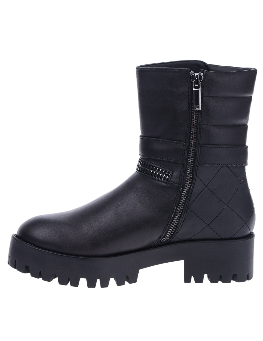 Фото 5 - женские ботинки и полуботинки  черного цвета