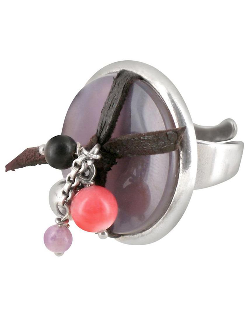 Купить Кольца, Кольцо, NATURE BIJOUX, Фиолетовый, Осень-Зима