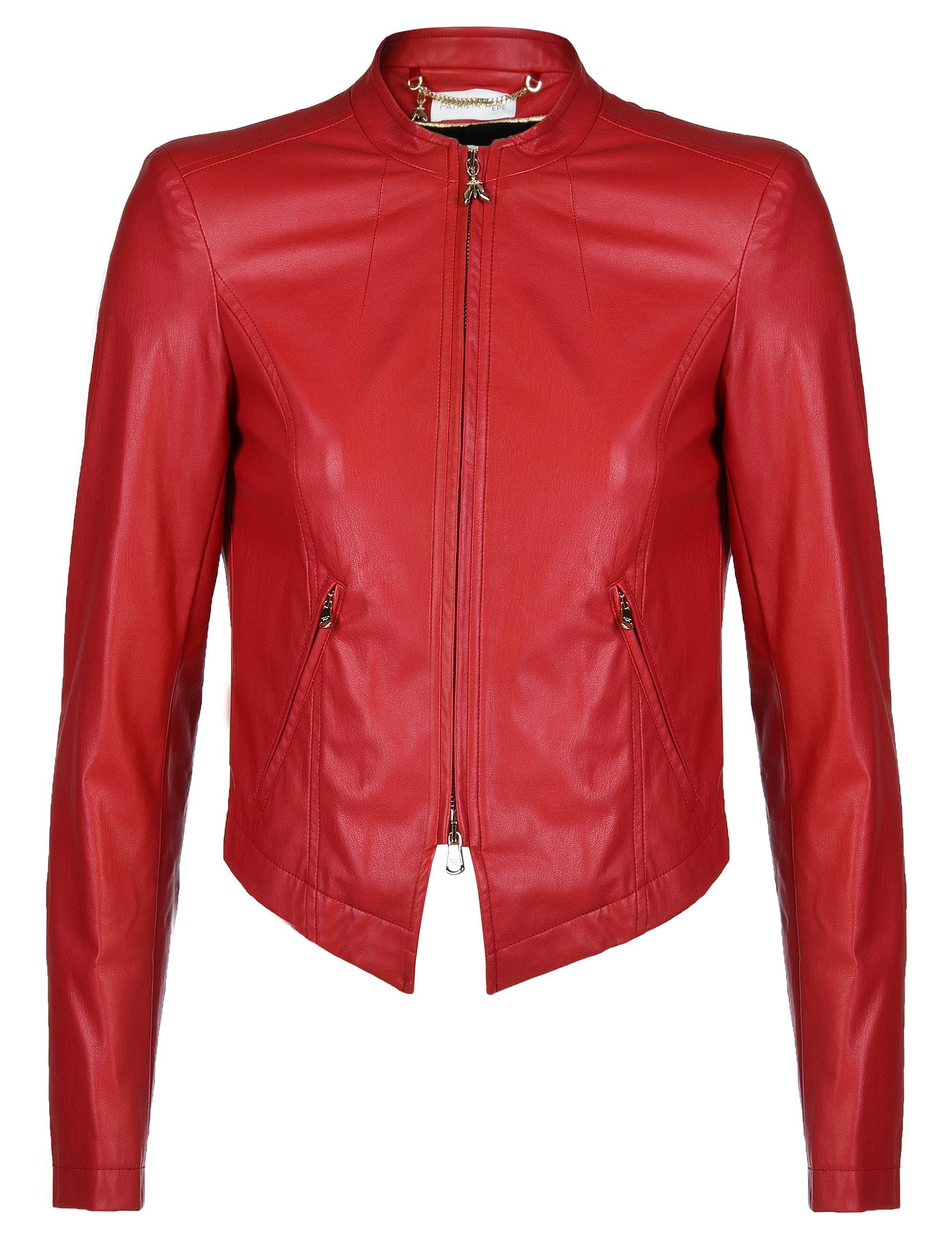 Купить Куртка, PATRIZIA PEPE, Красный, 100%Экокожа, Осень-Зима