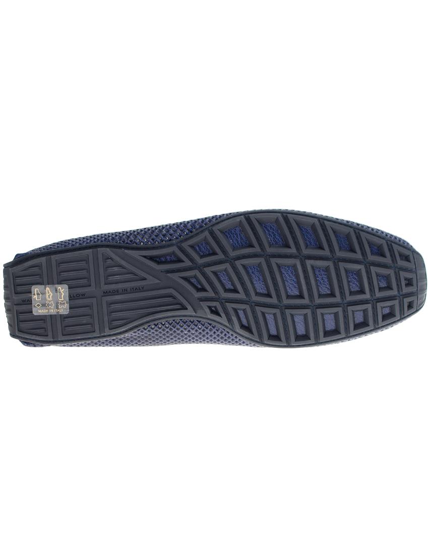 Фото 6 - мужские мокасины  синего цвета