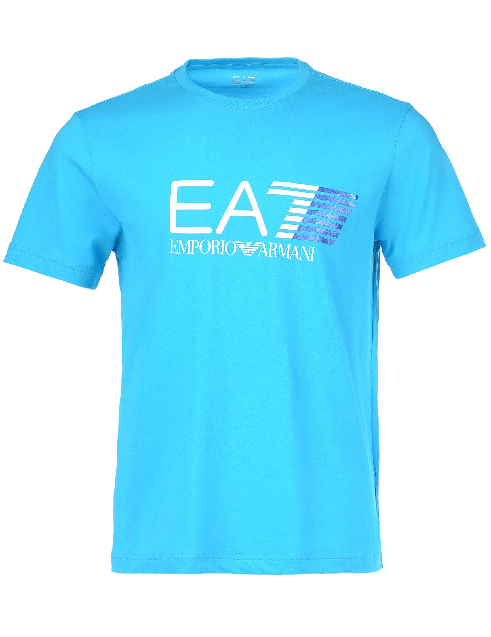 Купить Футболка, EA7 EMPORIO ARMANI, Голубой, 100%Хлопок, Осень-Зима